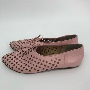 Vintage 1980s pink leather lace up candies 7.5